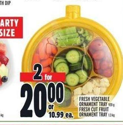 Fresh Vegetable Ornament Tray 920 g Fresh Cut Fruit Ornament Tray 1.3 Kg