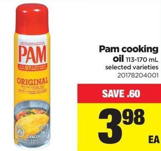 Pam Cooking Oil - 113-170 mL