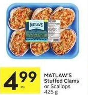 Matlaw's Stuffed Clams or Scallops 425 g
