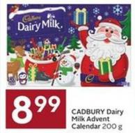 Cadbury Dairy Milk Advent Calendar 200 g