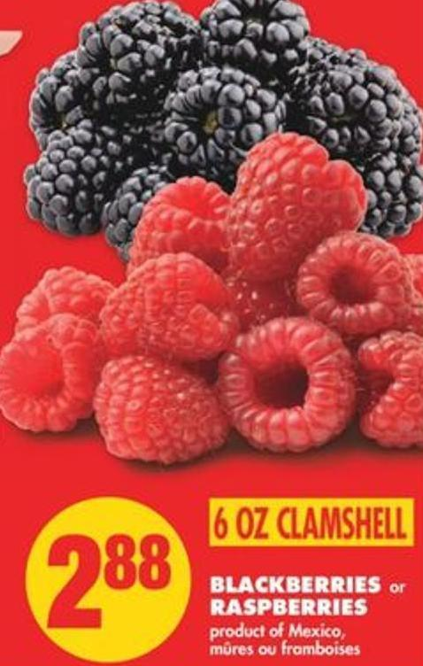 Blackberries or Raspberries - 6 Oz Clamshell