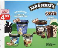 Ben & Jerry's - 473-500 mL