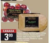 Farmer's Market Mcintosh Apples - 4 Lb Bag Or Russet - White Or Red Potatoes - 10 Lb