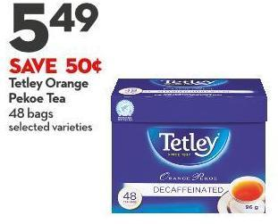 Tetley Orange  Pekoe Tea  48 Bags