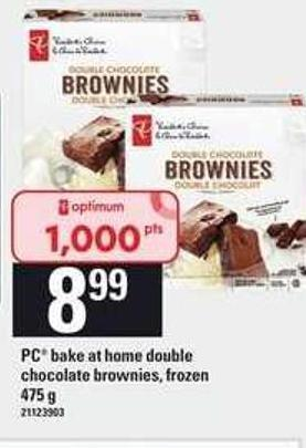 PC Bake At Home Double Chocolate Brownies - 475 G