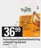 Purina Beyond Superfood Blend - 6.57 Kg Or Simply9 - 7 Kg Dog Food