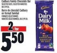 Cadbury Family Chocolate Bar