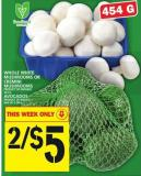 Whole White Mushrooms Or Cremini Mushrooms Or Avocados