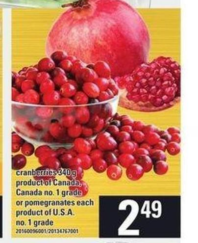 Cranberries 340 g or Pomegranates