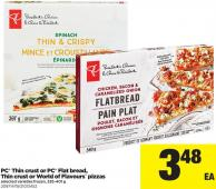 PC Thin Crust Or PC Flat Bread - Thin Crust Or World Of Flavours Pizzas - 335-401 g