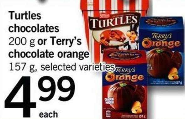 Turtles Chocolates - 200 G Or Terry's Chocolate Orange - 157 G