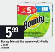 Bounty Select A Size Paper Towel 2=5 Rolls - 2 Each