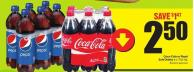 Coca-cola or Pepsi Softdrinks 6 X 710 mL