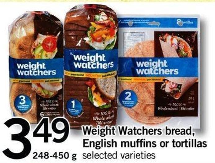 Weight Watchers Bread - English Muffins Or Tortillas - 248-450 G