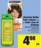 Garnier Belle Hair Colour Ea. Or Hair Care Or Styling