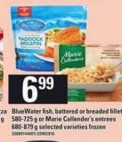 Bluewater Fish - Battered Or Breaded Fillets - 580-725 G Or Marie Callender's Entrées - 680-879 G
