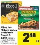 Fibre 1 Or Nature Valley Protein Or Sweet & Salty - 6 Ct Bars - 125-210 g
