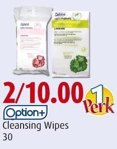 Option+ Cleansing Wipes 30