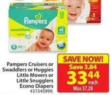 Pampers Cruisers or Swaddlers