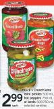 Bick's Crunch'ems Mini Pickles - 500 Ml - Hot Peppers - 750 Ml Or Beets - 500/750 Ml