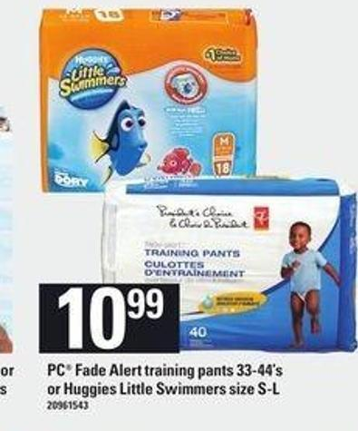 PC Fade Alert Training Pants - 33-44's Or Huggies Little Swimmers - Size S-l