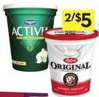 Astro Yogurt 650-750 g or Activia Yogurt 650 g