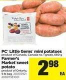 PC Little Gems Mini Potatoes - 680 g or Farmer's Marketsweet Potato - 5 Lb Bag