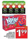 Kool-aid Jammers Or Minute Maid Juices Or Drinks