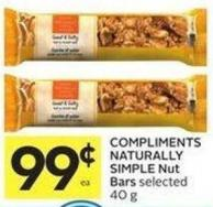 Compliments Naturally Simple Nut Bars Selected 40 g