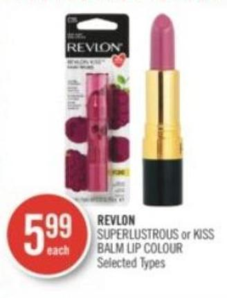 Revlon Superlustrous or Kiss Balm Lip Colour