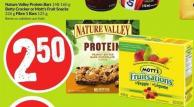 Nature Valley Protein Bars 148-160 g Betty Crocker or Mott's Fruit Snacks 226 g Fibre 1 Bars 125 g