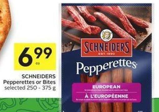 Schneiders Pepperettes or Bites Selected 250 - 375 g