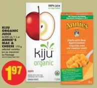 Kiju Organic Juice - 4x200 Ml/1 L or Annie's Mac & Cheese - 170 g