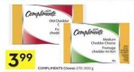 Compliments Cheese 270-300 g