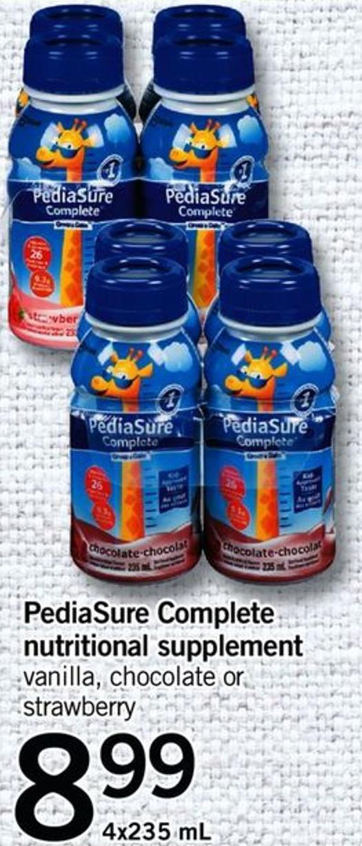 Pediasure Complete Nutritional Supplement - 4x235 Ml