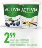 Activa - 650 G - Danone No Added Sugar - 650 G