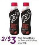 Yop Smoothies Or Protein Shakes - 250 Ml
