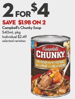 Campbell's Chunky Soup 540ml Pkg