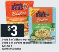 Uncle Ben's Bistro Express Side Dish Or Uncle Ben's Grains And Rice - 170-250 g