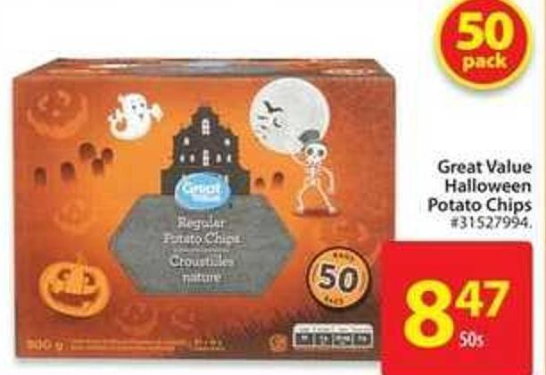 Great Value Halloween Potato Chips