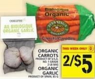 Organic Carrots Or Organic Garlic