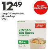 Longo's Compostable  Kitchen Bags 100ct