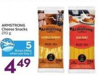 Armstrong Cheese Snacks 210 g - 5 Air Miles Bonus Miles