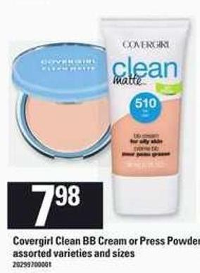 Covergirl Clean Bb Cream Or Press Powder