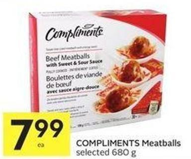 Compliments Meatballs Selected 680 g