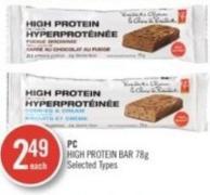 PC High Protein Bar 78g