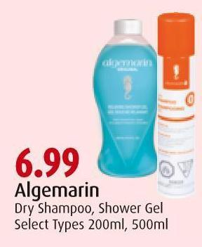Algemarin Dry Shampoo - Shower Gel