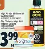 Bright Air Odor Eliminator And Goo Gone Cleaner