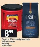Folgers Or 1850 Roast And Ground Coffee - 340-920 G