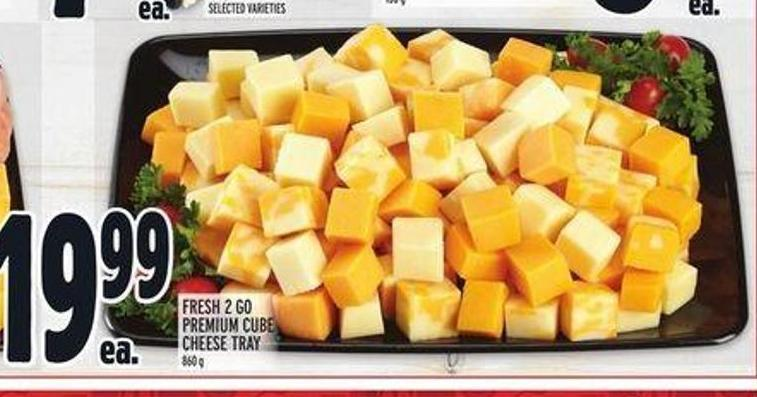 Fresh 2 Go Premium Cube Cheese Tray